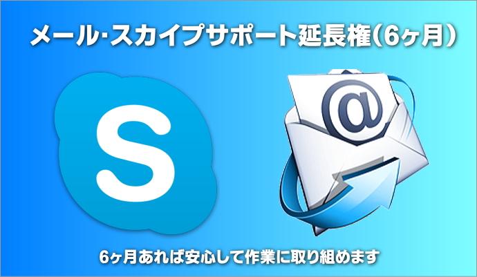 メール・スカイプサポート延長権(6ヶ月)
